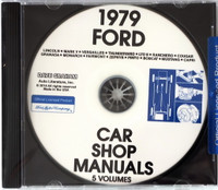 1979 Ford, Lincoln & Mercury Car Factory Shop Manuals on CD