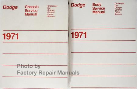 Dodge Service Manual Challenger, Dart, Charger, Coronet, Polara, Monaco 1971