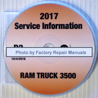 2017 Dodge RAM 3500 Chassis Cab Service Information CD-ROM