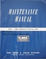 1947-1954 GMC Truck Service Manual 100-450