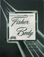 "1970 Fisher ""F"" Body Service Manual"
