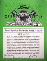 Ford Service Bulletins 1928-1931