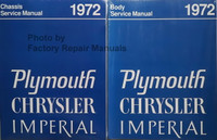 1972 Chrysler and Plymouth Chassis Service Manual and Body Service Manual