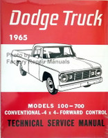 1965 Dodge Pickup Truck 100-700 Service Manual