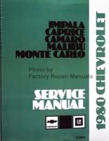 1980 Chevrolet Camaro Malibu Monte Carlo Nova Service Manual