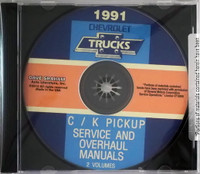 1991 Chevrolet Trucks C/K Pickup Service Manual & Unit Repair Manual  CD