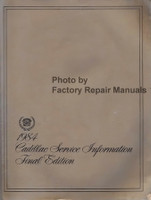 1984 Cadillac Service Information Final Edition