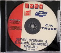 1994 Chevy GMC Truck Suburban Blazer Yukon Service, Overhaul & Electrical Diagnosis Manuals