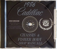 1986 Cadillac Factory Shop Service Manual and Body Repair Manual CD