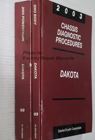 2003 Dodge Dakota Powertrain, Body and Chassis Diagnostic Procedures Manuals Spine View