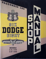 1953 Dodge Passenger Car Shop Manual D-44 D-46 D-47 D-48
