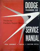 1956 Dodge Passenger Car Shop Manual Coronet Custom Royal