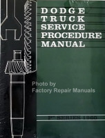 1960 Dodge Truck Service Procedures Manual