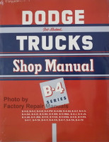 1953 Dodge Truck Shop Manual B-4 Series