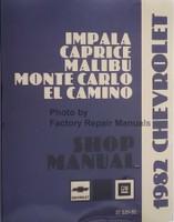 1982 Chevrolet Impala Caprice Malibu Monte Carlo El Camino Shop Manual