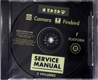 1997 Service Manual Chevrolet Camaro Pontiac Firebird Volume 1 and 2 on CD
