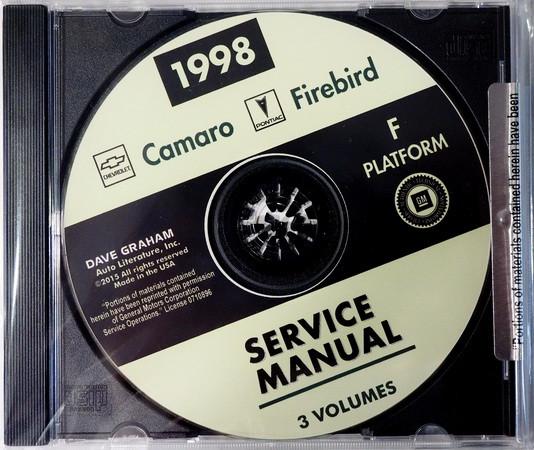 1998 Chevrolet Camaro Pontiac Firebird Service Manual Volume 1, 2, 3 on CD