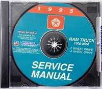 1995 Service Manual Ram Truck 1500 - 3500 2 Wheel Drive 4 Wheel Drive