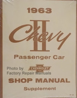 1963 Chevy II Passenger Car Shop Manual Supplement