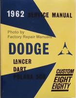 1962 Dodge Lancer Dart Polara 500 Custom Eight Eighty Service Manual