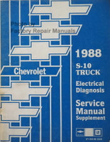 1988 Chevrolet S-10 Truck Electrical Diagnosis and Troubleshooting Manual Supplement