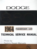 1964 Dodge Custom Eight Eighty Passenger Car Service Manual