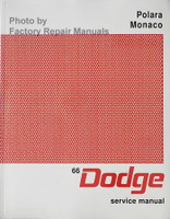 1966 Dodge Polara Monaco Service Manual