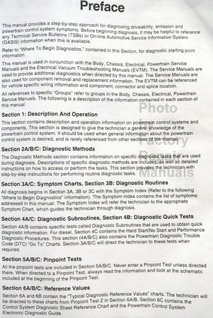 1997 Ford Powertrain Control/Emissions Diagnosis Service Manual Car/Truck On Board Diagnosics II Table of Contents