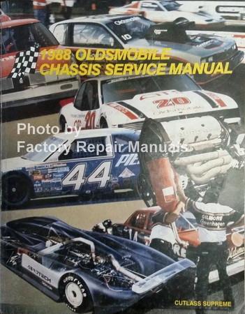 1988 Oldsmobile Cutlass Supreme Chassis Service Manual
