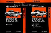 1995 Toyota Truck Repair Manual Volume 1 and 2