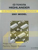 2001 Toyota Highlander Wiring Diagrams
