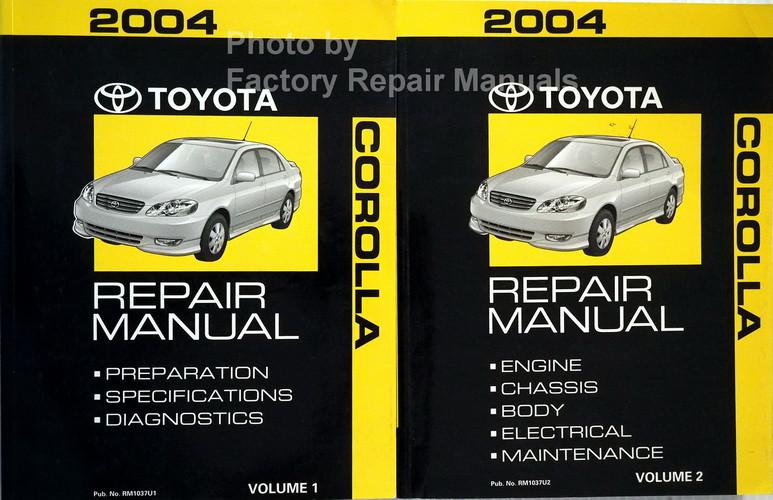 2004 Toyota Corolla Repair Manuals Volume 1, 2
