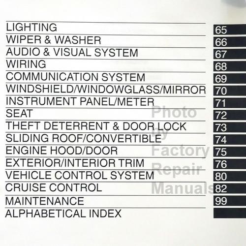 2004 Toyota Corolla Repair Manual Table of Contents 3