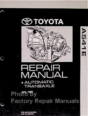 Toyota A541E Repair Manual Automatic Transaxle