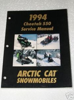 1994 ARCTIC CAT CHEETAH 550 Snowmobile Shop Service Repair Manual 550cc
