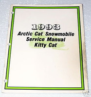 1993 ARCTIC CAT Kitty Cat Snowmobile Factory Service Manual Original Shop Repair