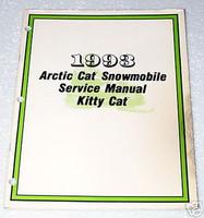 1993 ARCTIC CAT Kitty Cat Snowmobile Factory Service Manual Original Shop Repair