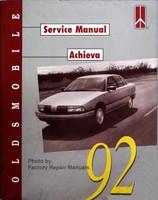 Oldsmobile Service Manual Achieva 1992