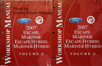 2007 Ford Escape, Mercury Mariner Escape Hybrid, Mariner Hybrid Workhop Manual Volume 1, 2
