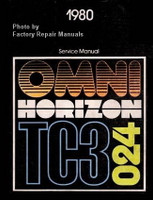 1980 Plymouth Horizon TC3 Dodge Omni 024 Factory Shop Service Manual