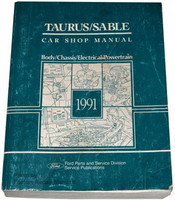 1991 Ford Taurus Mercury Sable Factory Service Manual Original Shop Repair