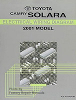 2001 Toyota Camry Solara Electrical Wiring Diagrams Original Factory Manual