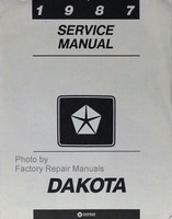 1987 Dodge Dakota Pick-up Truck Factory Service Manual Original Shop Repair