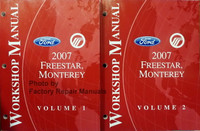 Ford Mercury 2007 Freestar Monterey Workshop Manual Volume 1, 2