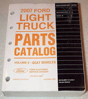 2007 Ford Ranger Pickup Freestar Monterey Mini-Van Dealer Parts Catalog Manual