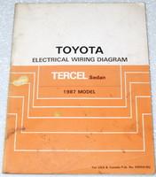 1987 Toyota Tercel Electrical Wiring Diagrams Original Factory Manual