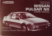 1988 Nissan Pulsar NX Owners Manual