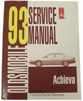 1993 Oldsmobile Achieva Factory Service Manual Original Shop Repair