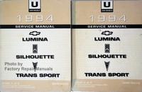 1994 Service Manual Lumina Silhouette Trans Sport Volume 1, 2
