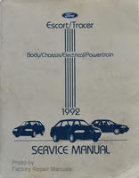 Ford Escort/Tracer Body/Chassis/Electrical/Powertrain 1992 Service Manual